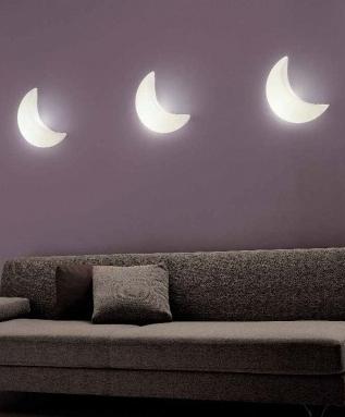 Luna moon style wall lights