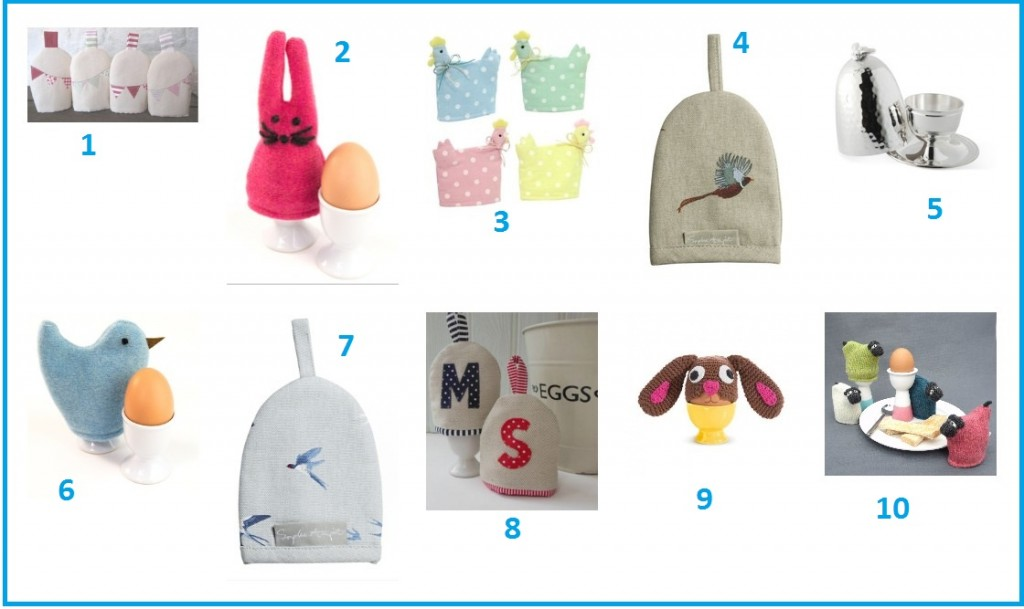 Keep your eggs cosy and warm, with these fab egg cosies!