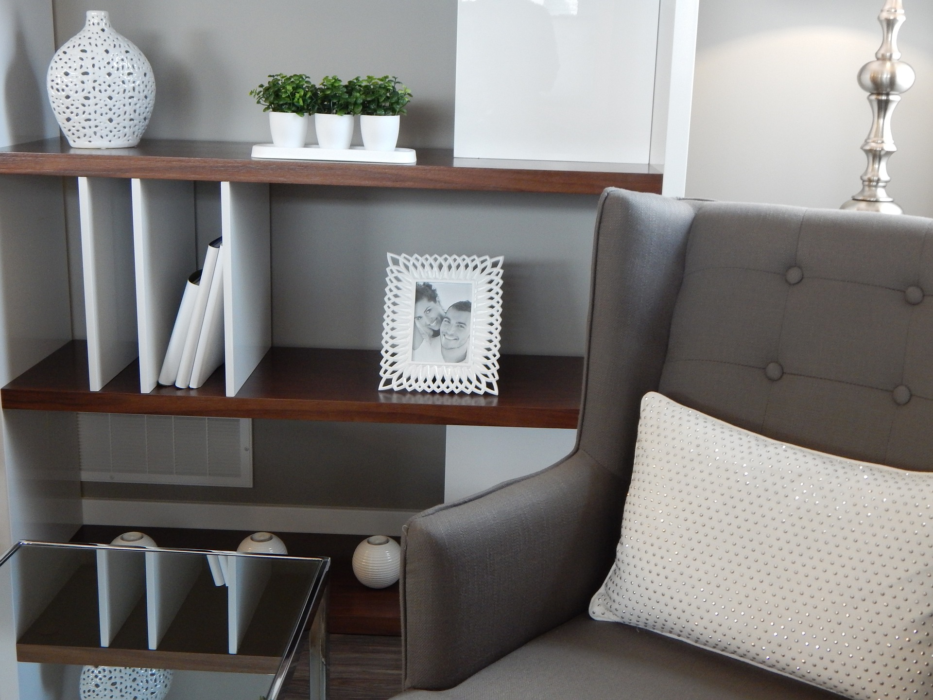 Use home storage options to declutter and make spaces look bigger
