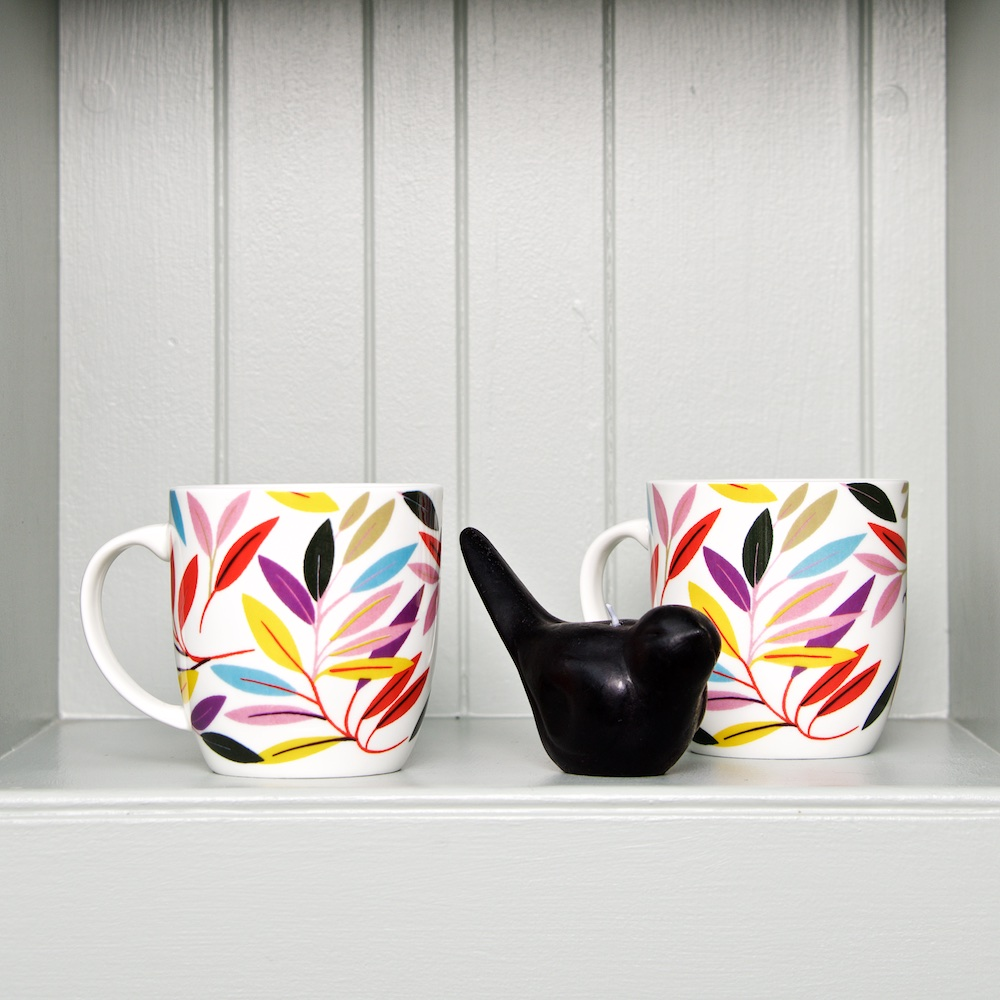 Gorgeous autumn leaves ceramic mug by Collier Campbell