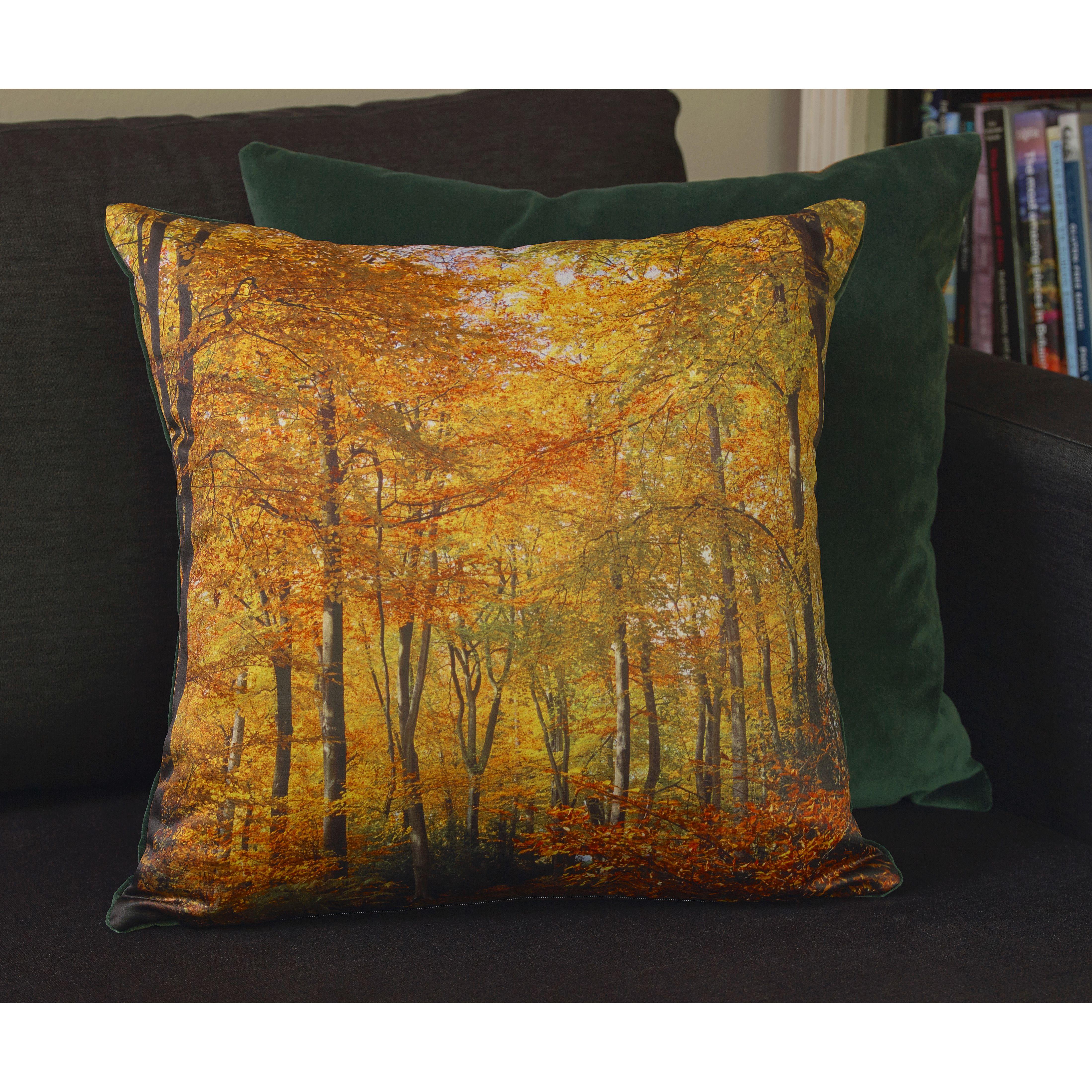 Alice's autumnal walk cushion design