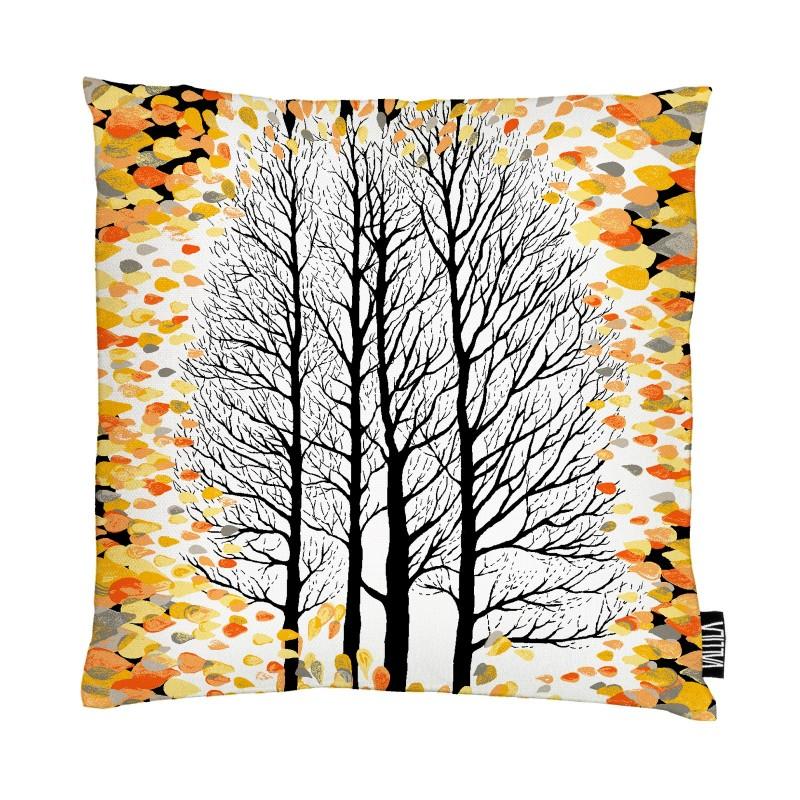 Finnish autumn leaves cushion