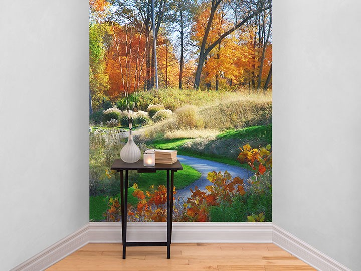 Bring autumn into your home with a self-adhesive wallpaper panel