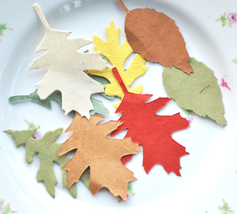 What would you create with these autumnal paper leaves?