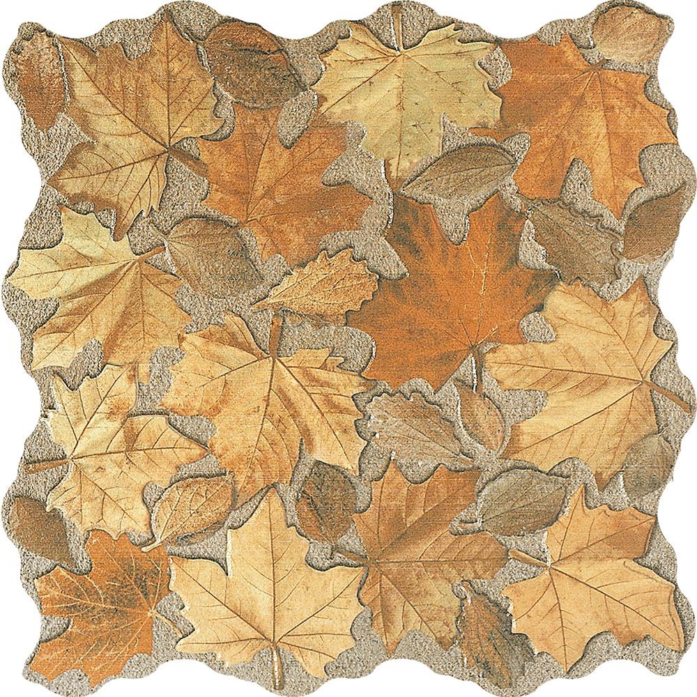 Unusual decorative autumn leaf tiles