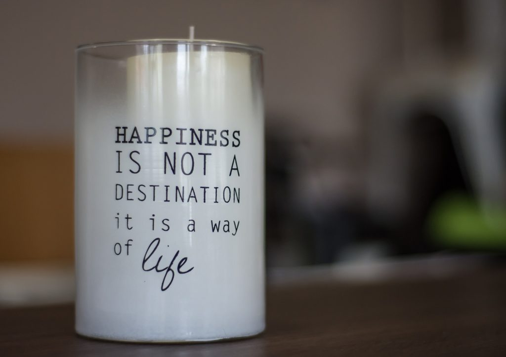 Use scented candles to create a welcoming scent in your home