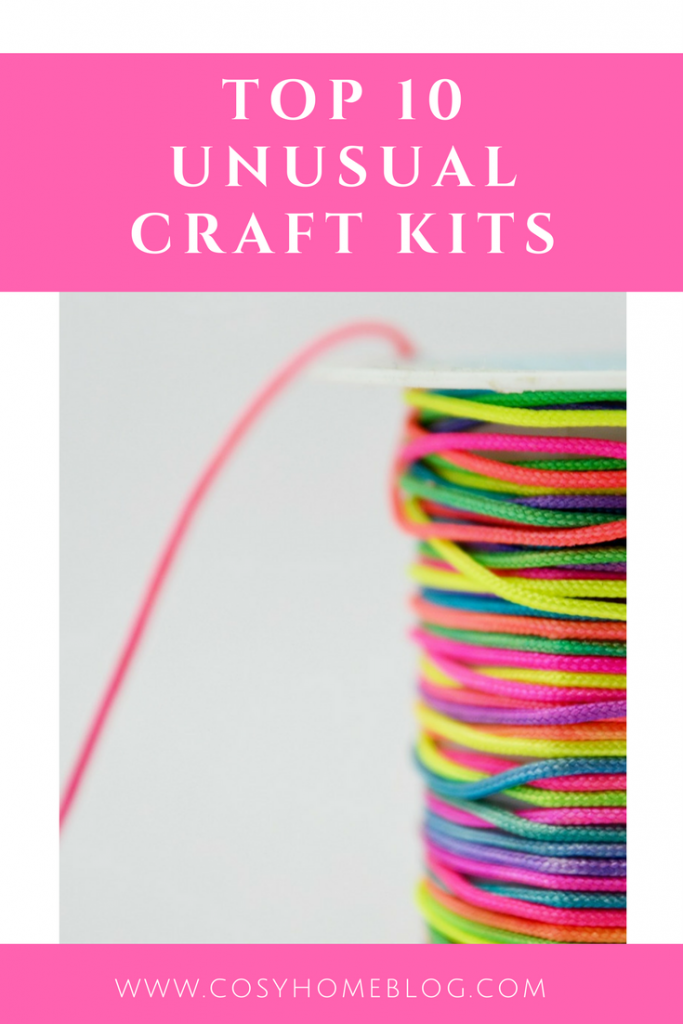 Love crafts? Discover some unusual craft kit ideas. Great for gift ideas or to make yourself.  Click through for more details