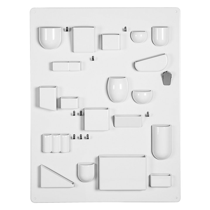 Super functional and clever wall storage system by Vitra - great for getting kids rooms more organised