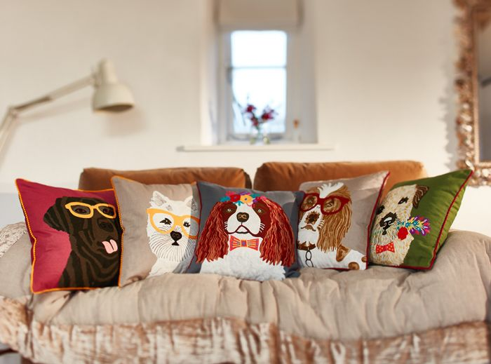 Love these quirky cat and dog animal design cushions