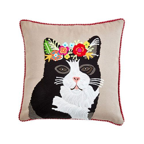 Cute tuxedo cat design cushion