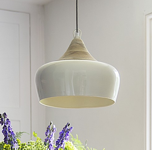 Beautiful ceiling pendant in muted colours