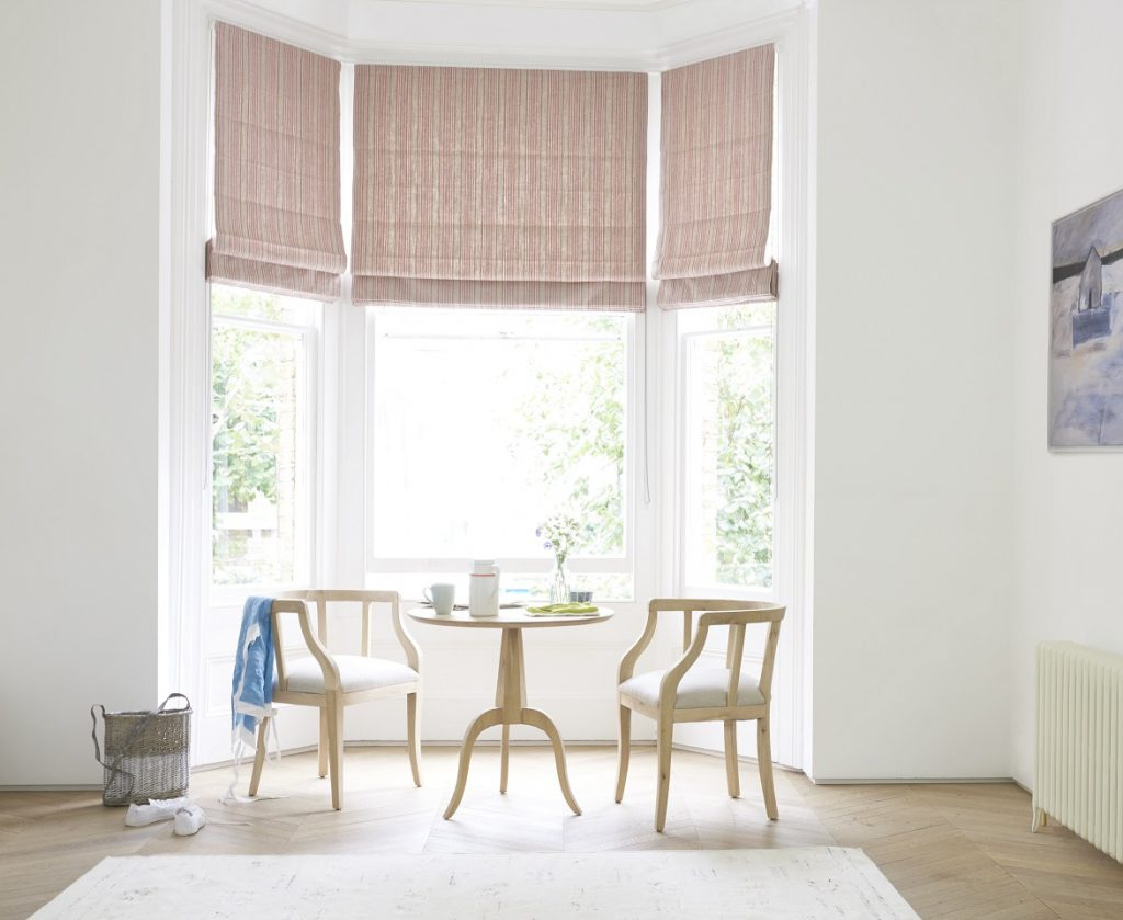 French style window blinds in muted colours