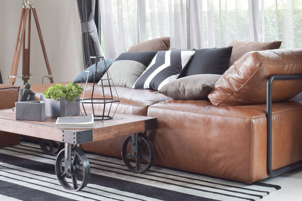 Faux leather furniture looks like classic leather upholstery, but without the expensive price tag