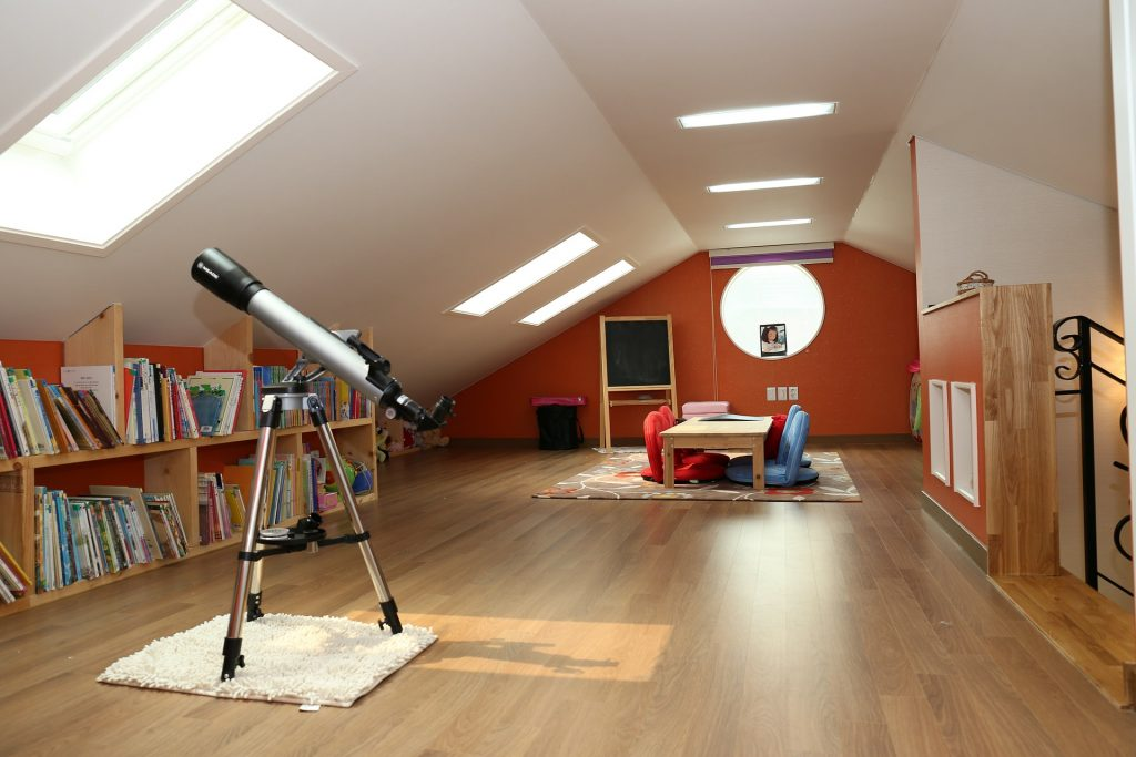 Create a kids playroom or games room in your loft