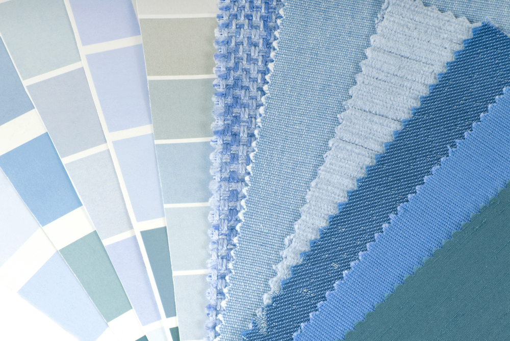 Shades of blue are popular colours for kitchen designs
