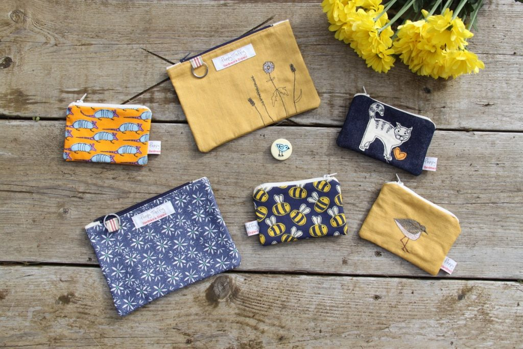 Make up bags and purses by Poppy Treffry
