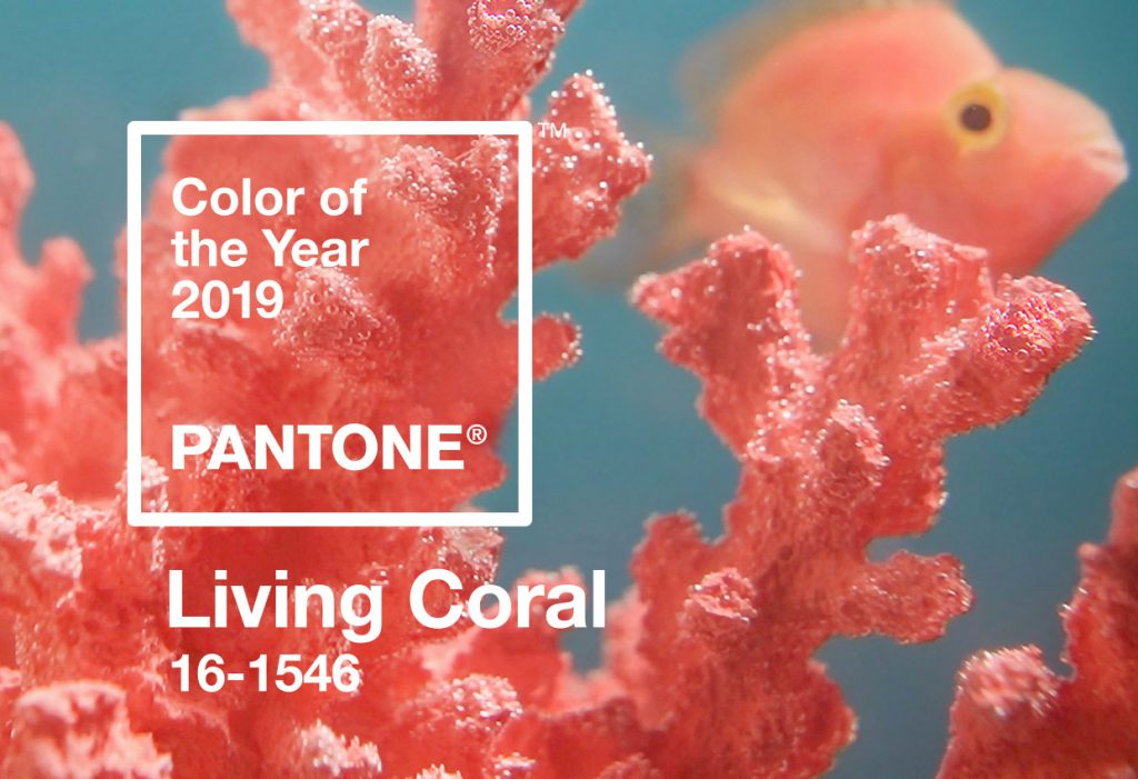 Ideas and inspiration for using the Pantone colour Living Coral in your home interiors and decorating