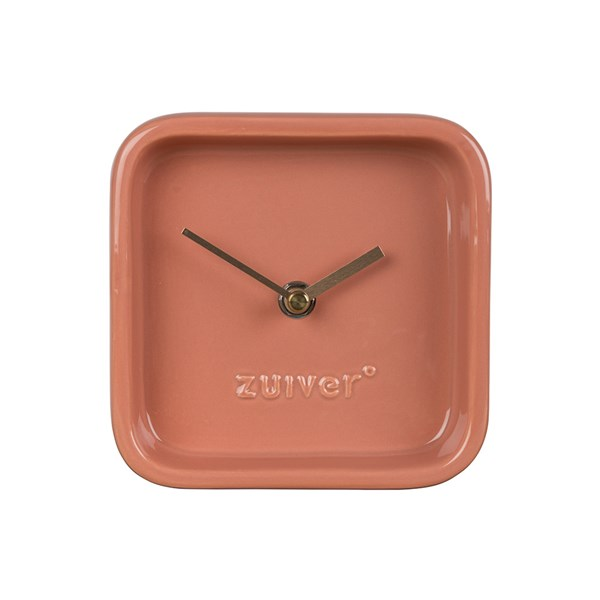 Cute desk clock in a pinky orange living coral colour