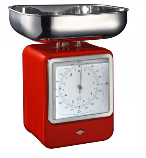 Gorgeous red retro style scales for your kitchen home baking