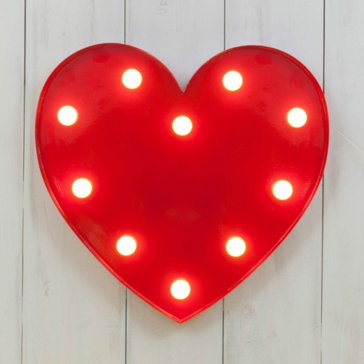Bright and striking heart shaped LED light