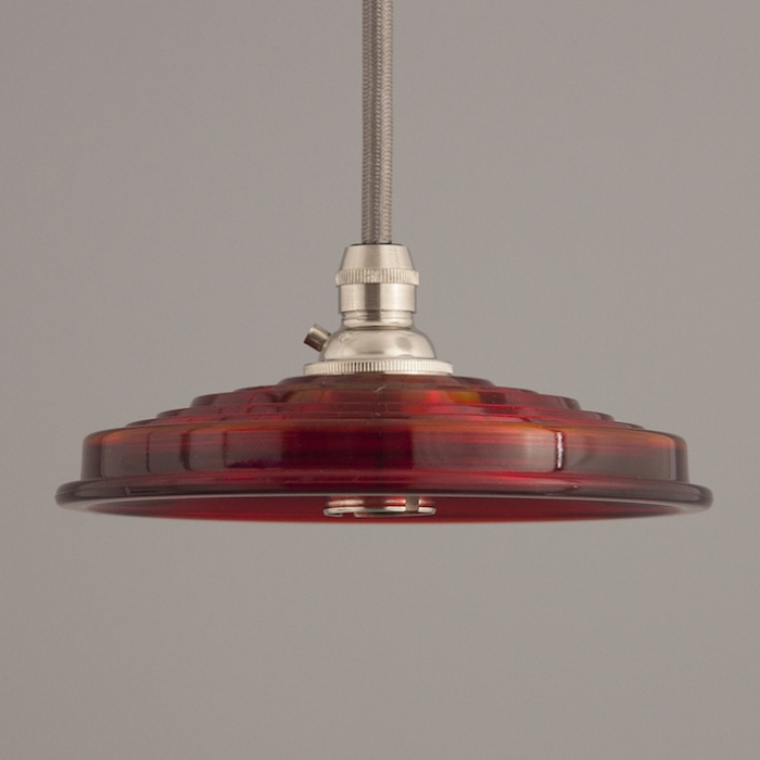 Stunning red reclaiming railway lights - perfect to use in your home if you love upcycled pieces.