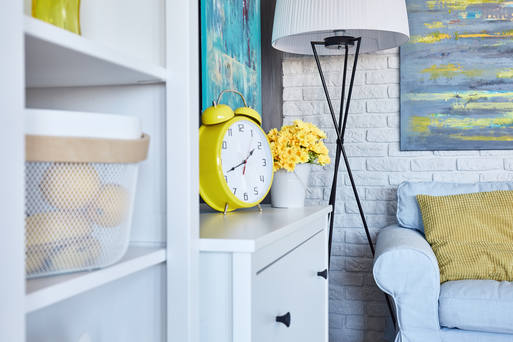 Add a pop of yellow into your home for a touch of instant sunshine
