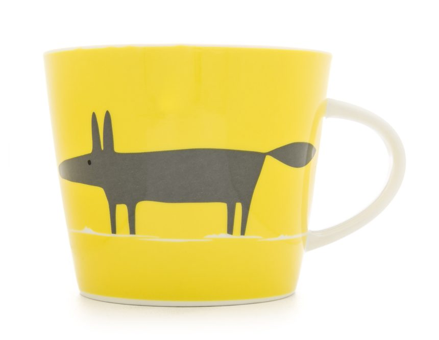 Bright yellow accessories, like this Scion Living Mr Fox mug, are perfect for adding a pop of colour to your breakfast table.