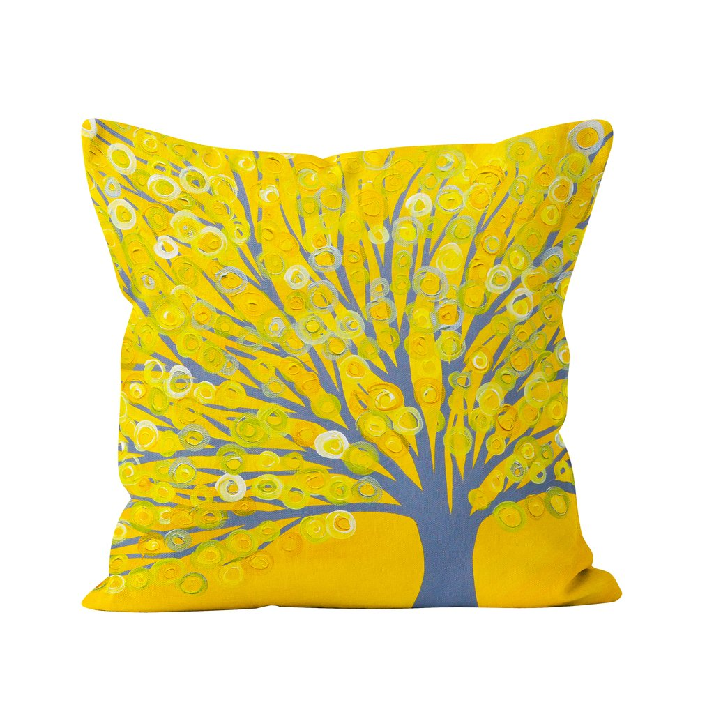 Yellow home accessories, like this bright and cheery yellow cushion, are a great way to add a pop of colour into your home during the darker winter months.