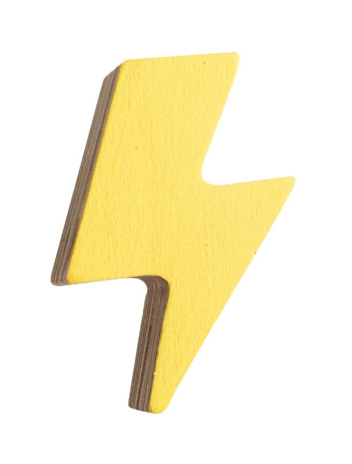 Fun and quirky yellow home accessories like this lightning bolt hook can add personality into your home