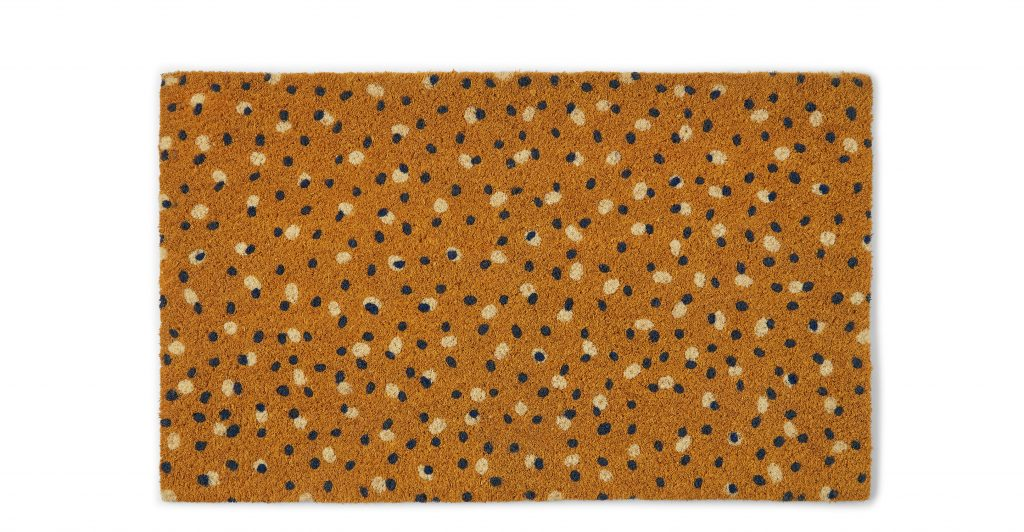 Arkin doormat in mustard yellow, MADE
