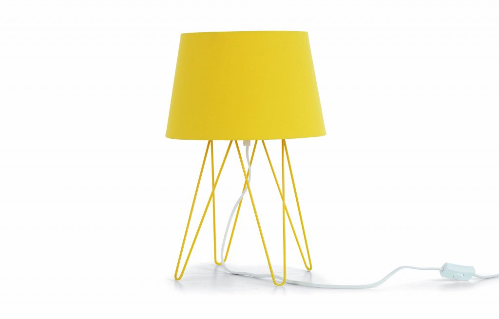 Yellow home accessories and lighting can add a splash of colour in a room. We love this Collins table lamp in its shade of ochre yellow.