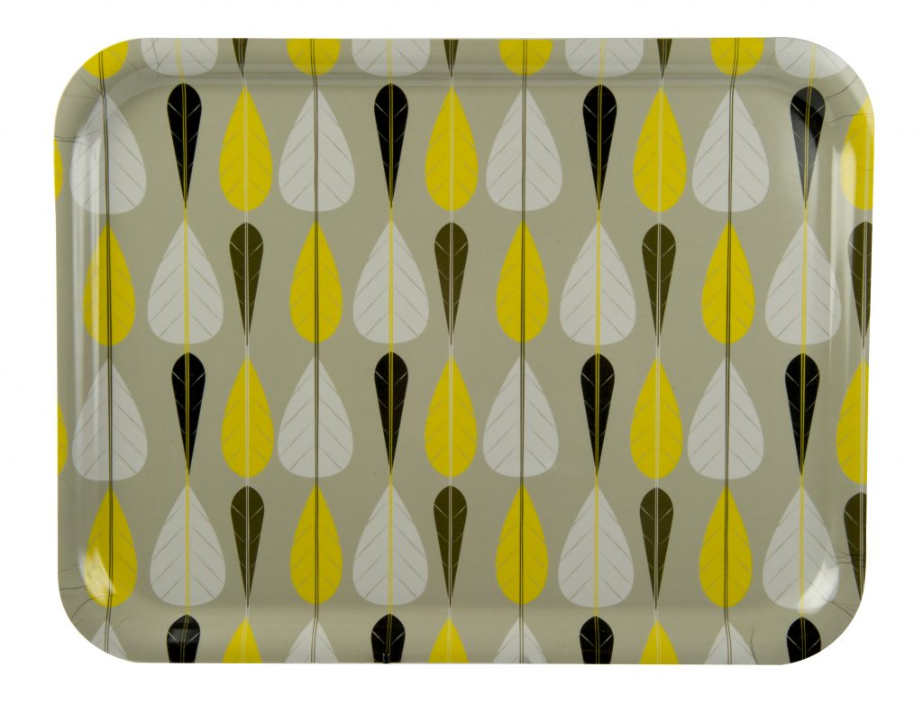Love yellow home accessories? Check out this gorgeous retro leaf design tray.