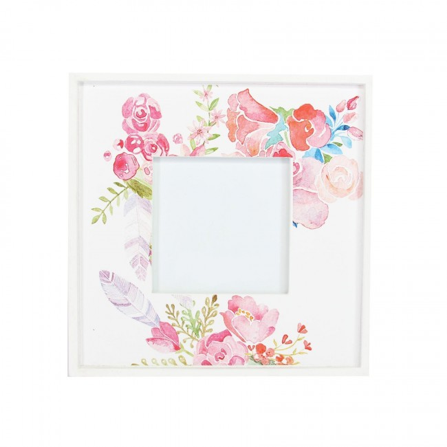 Why not add a favourite picture to this frame and give as a floral gift