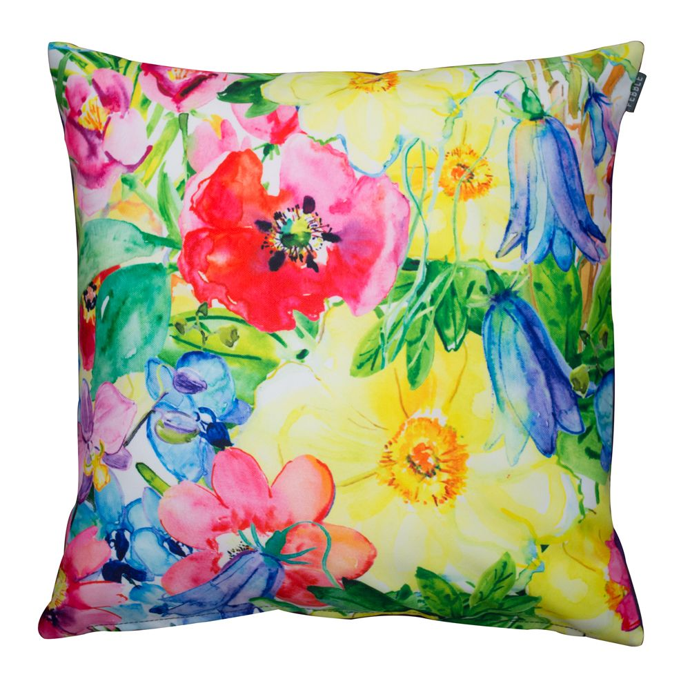 Gorgeous painterly floral cushion that is ideal to give as a floral gift