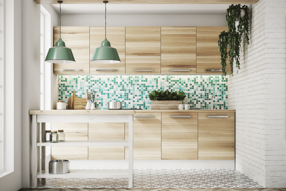 Pastel tiles are one of the top tile trends of 2019 and work well used on floors and walls