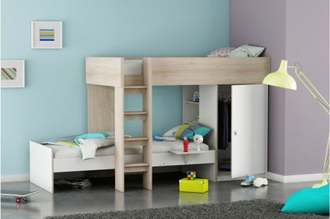 Pastel blue is a good choice for a children's bedroom wall colour as it helps promote sleep