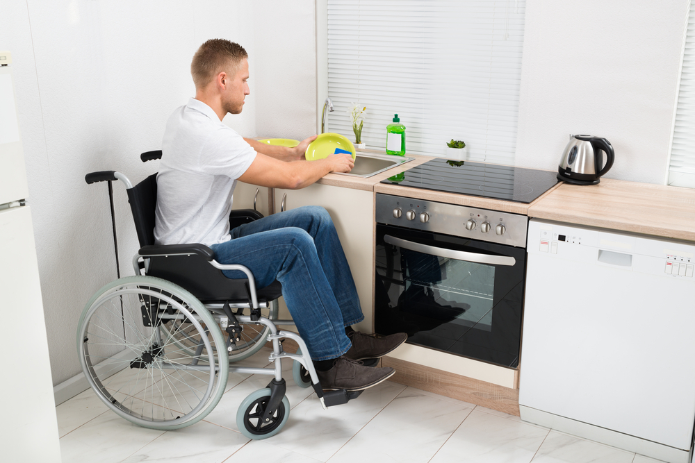 The height of kitchen worktops can be adapted if you have a disability or need to use a wheelchair