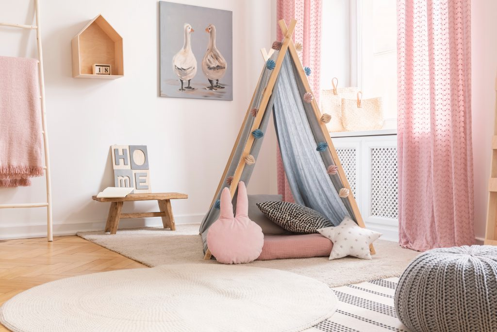 Choose colours for children's rooms carefully, as some can be more soothing than others