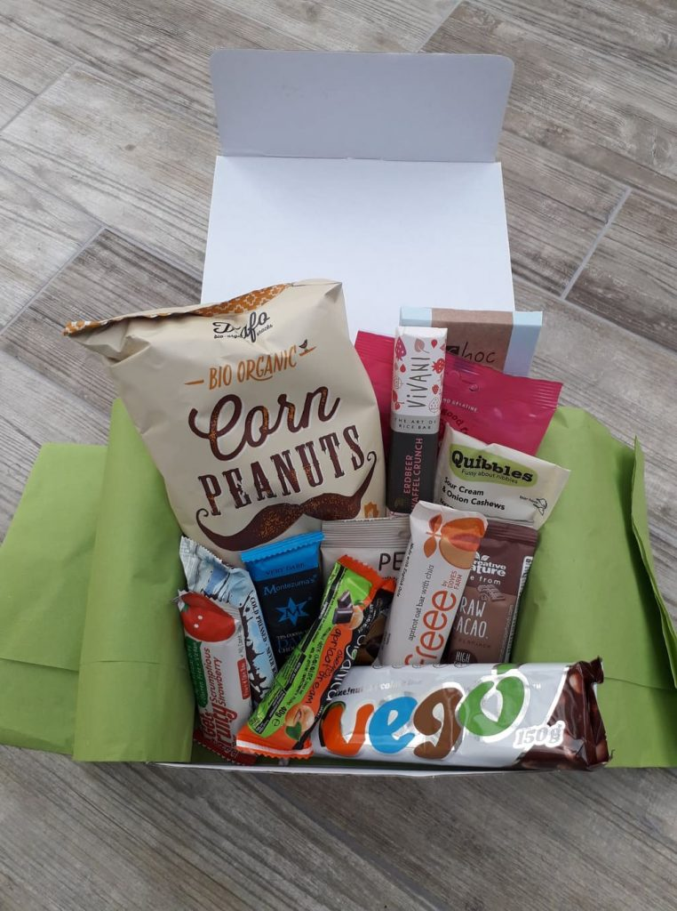 Vegan gifts snack hamper from Yumbles