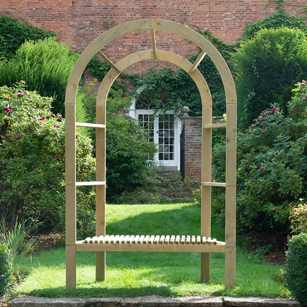 Traditional infinity bower arch which works well as a garden arbour