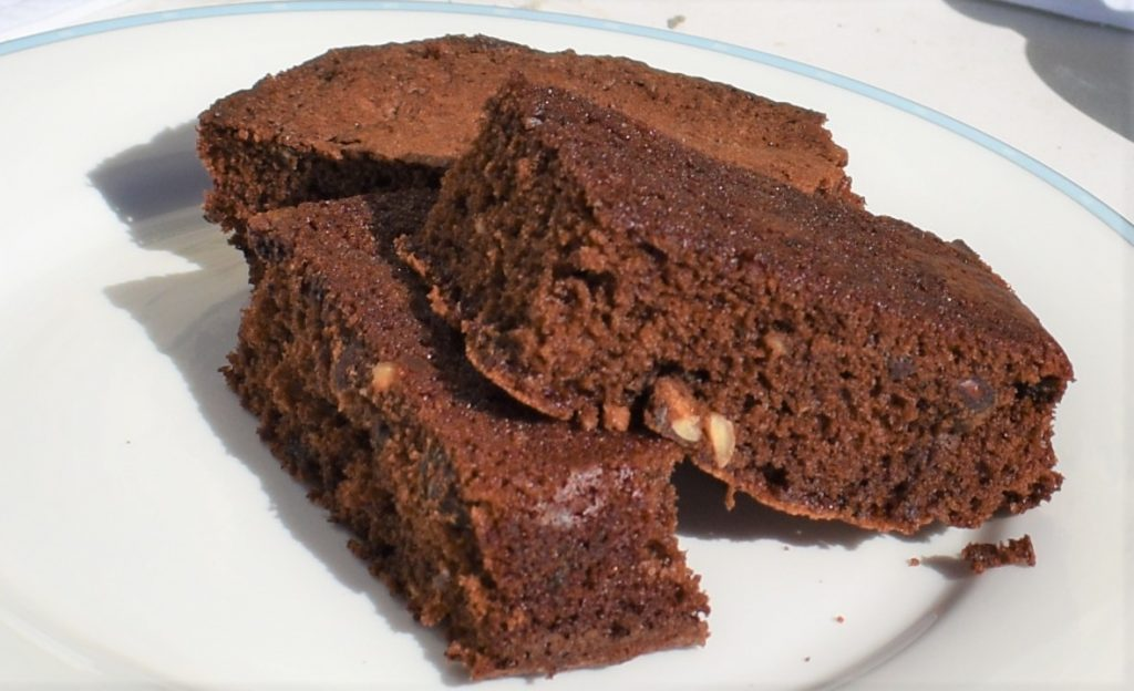 Gorgeous chocolate brownie recipe using ingredients from Chocolate and Love