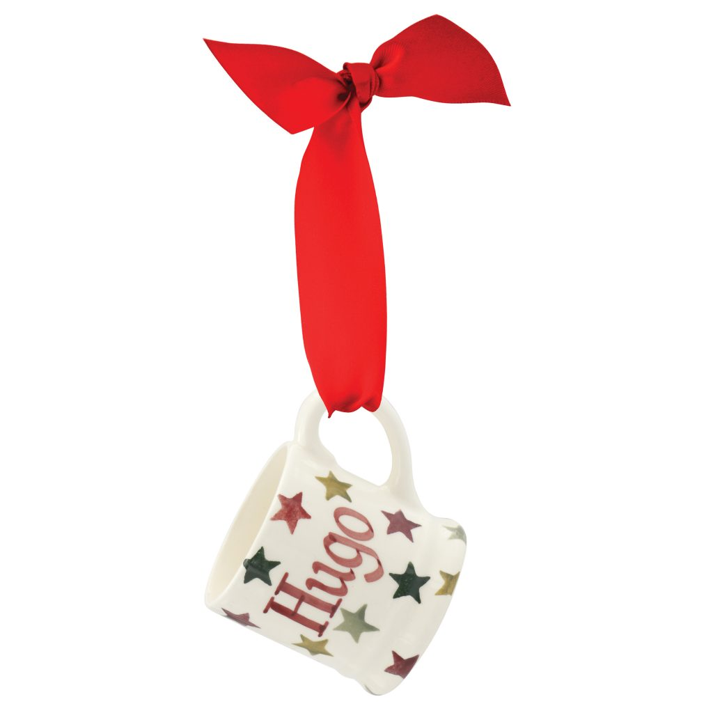 Gorgeous tiny Christmas holly tree decoration mug from Emma Bridgewater