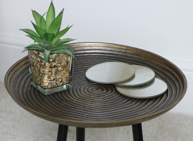 Gold side table from Melody Maison