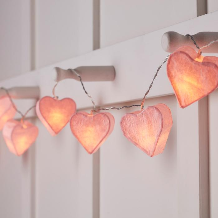 Love your home? Add more love and romance to it with these pretty heart lights.