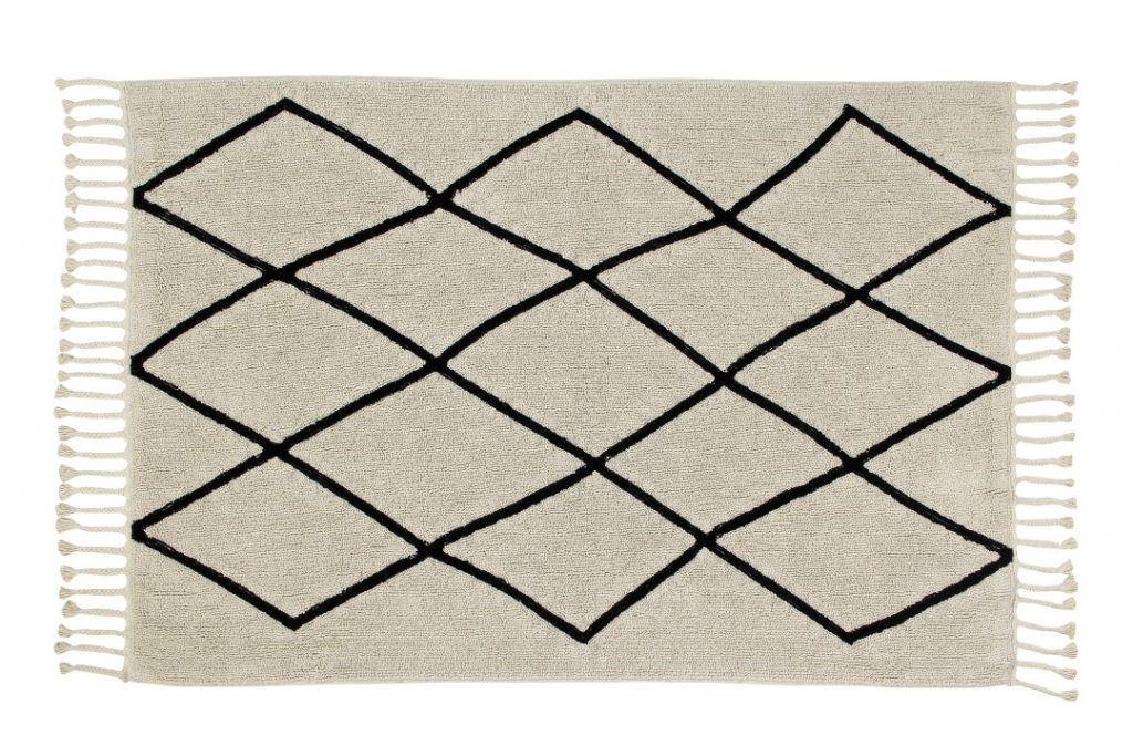 Contemporary kitchen rugs such as this Bereber beige rug are fully washable and servicable