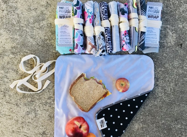 Marley's Monsters reusable sandwich wraps for eco picnics