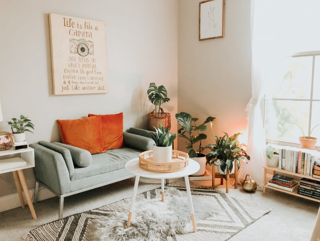 Nice example of a cozy living room in a cosy home
