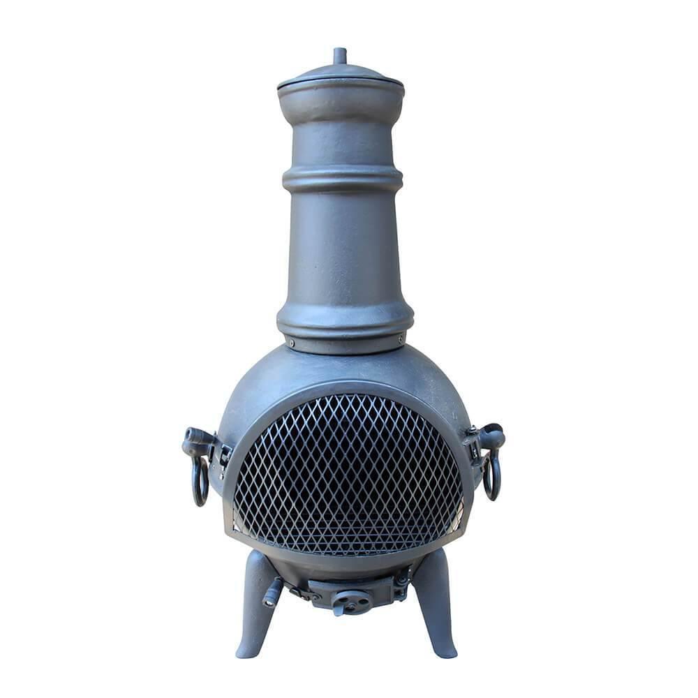 Hoole Enebro cast iron chiminea log burner, Gardenesque