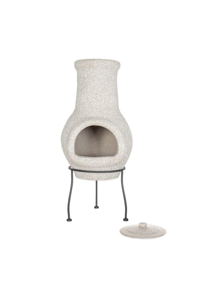 La Hacienda Wela clay chiminea stove, B&Q