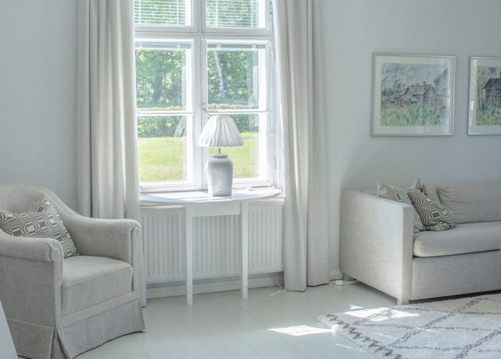 Keep your curtains closed when it's hot to prevent rooms overheating